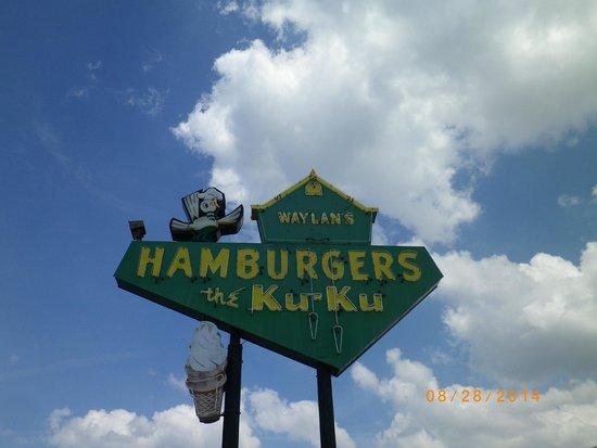 Sign for Ku-Ku Burgers
