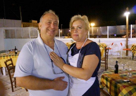 la vecchia taverna: The owners of the restaurant