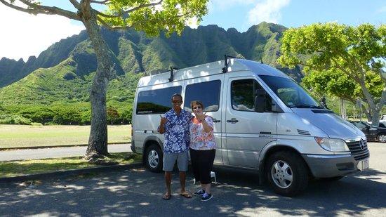 Oahu Spot Tours: Ron, Wife and Ron's Beautiful Van