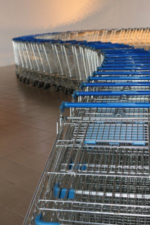 Museum of Contemporary Art and Design : shopping cart exhibit
