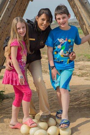 Highgate Ostrich Show Farm: The happy trio!