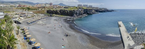 Callao Salvaje, Hiszpania: Вид на пляж с дороги