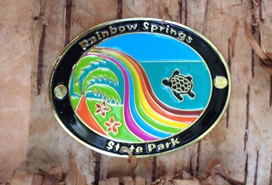 Rainbow Springs State Park: Hiking stick medallion.