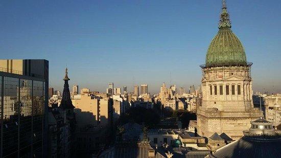 Uno Buenos Aires Suites: A vista do último andar, da área da academia.