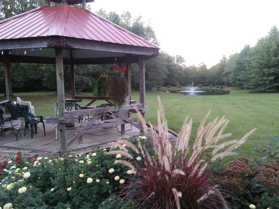 Country Schemes Bed and Breakfast: gazebo overlooking pond