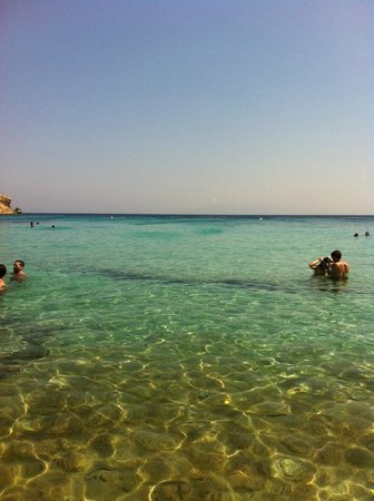 Paraga Beach Hostel & Camping: Mare sottostante il camping