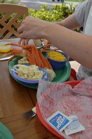 Crabby's Beachwalk Bar & Grill: Crabby's crab!