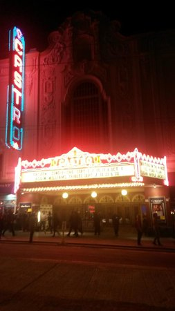 Castro Theatre: The Castro at night