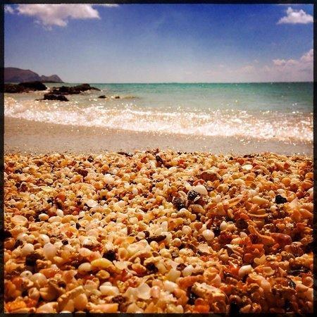 Strand von Elafonissi: Pink shells beach