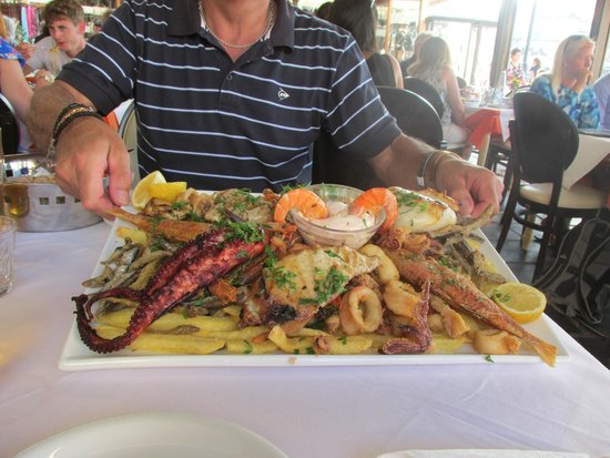 Solimar Aquamarine Hotel: Seafood Platter for Two at Chania Harbour