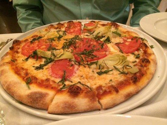 Caffe Delucchi : margherita pizza--we added artichoke hearts!