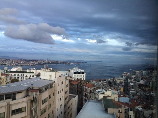The Marmara Taksim: View from the Bosporus side room