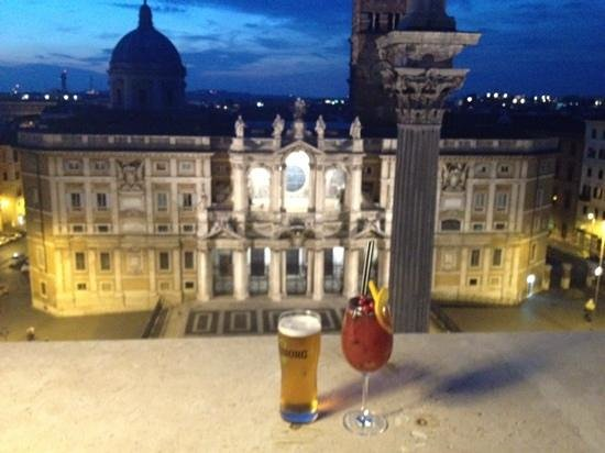 Mecenate Palace: view from roof terrace
