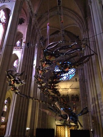 Cathedral Church of Saint John the Divine : Xu Bing Phoenix flying over the cathedral nave !!