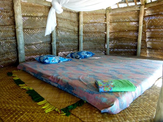 Tanu Beach Fales : Beach Fale Made Up For Sleeping
