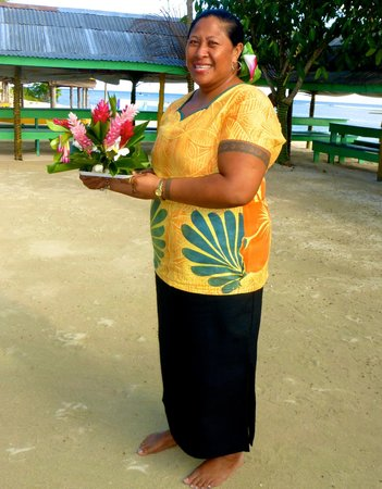 Tanu Beach Fales : Lovely Frida Who Ran Dining Services