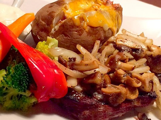Veky's International Cuisine: Fresh carved to order AAA rib eye steaks