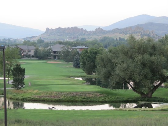 Mariana Butte Golf Course: Sixth Fairway With Devil's Backbone Background