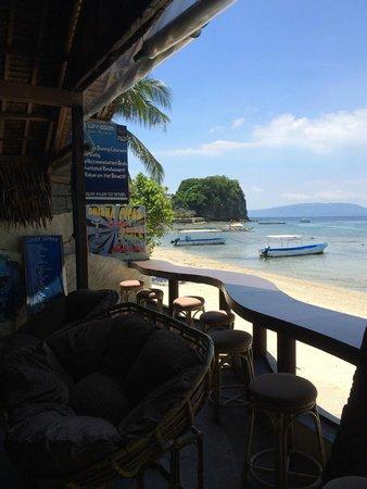 Blue Ribbon Dive Resort: Vue du bar/restaurant