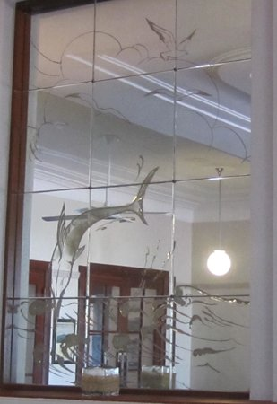 Caves House Hotel Yallingup: Original etched mirror