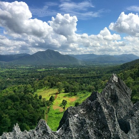 Chiang Mai Rock Climbing Adventures: View from top of Crazy Horse