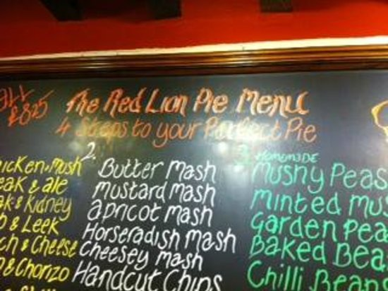 The Red Lion: Build your Pie