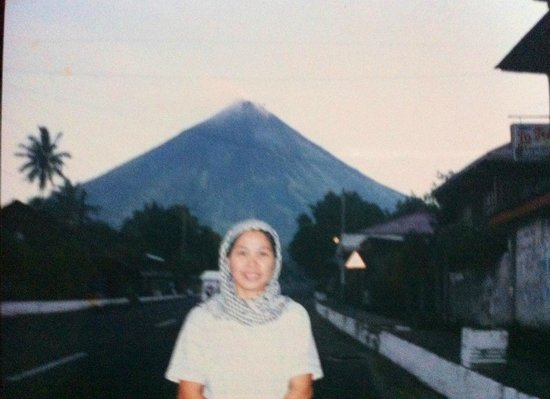 Mayon Volcano: A view from the roadside.