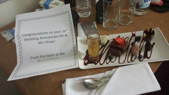Novotel York Centre: Anniversary treat from the hotel