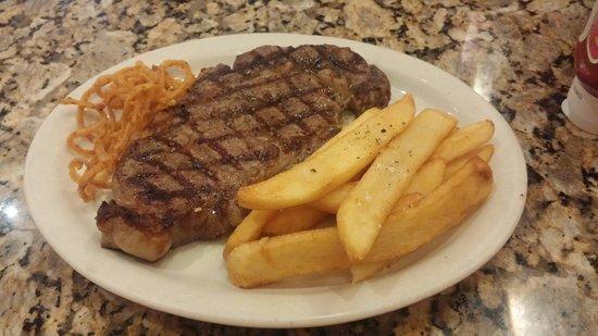 Black Angus Steakhouse: 12oz steak