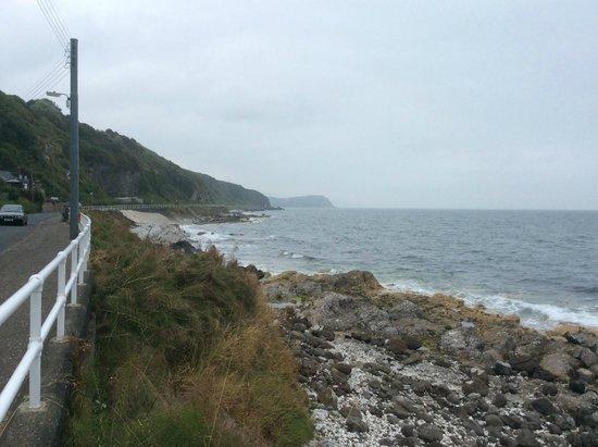 Antrim Coast Road: Rugged coast - on a quiet day!
