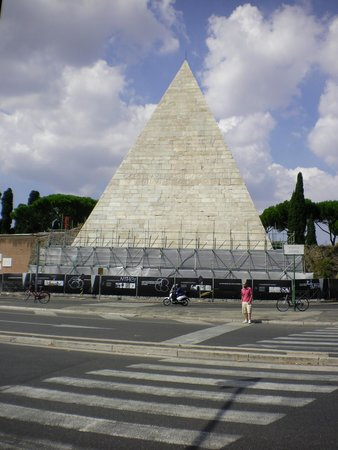 Piramide Cestia: This is what you see