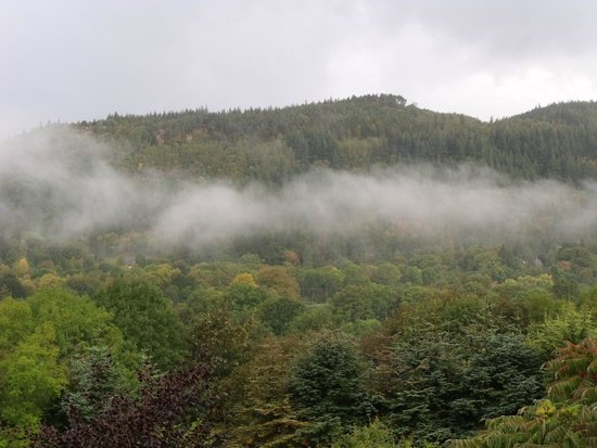 Maes-y-Garth: Morning view from the balcony