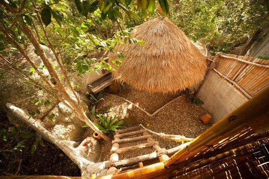Moon Dance Magic View Bungalow: openluchtbadkamer