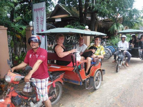 The River Garden Siem Reap: Tuk Tuk outside the hotel
