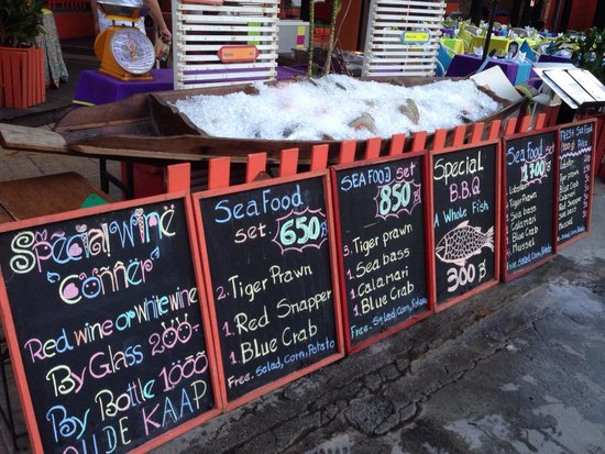 Baan Samui Resort: Fresh seafood every day