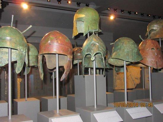 Musee d'Art Classique de Mougins: Ancient helmets