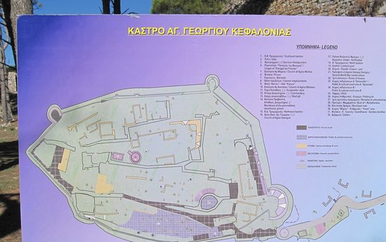 St George's Castle: Oversiktskartet