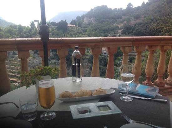 Restaurante Valldemossa: view from our terrace table