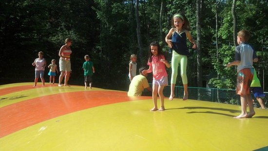 Jellystone Park at Birchwood Acres: giant inflatable bouncy pillow