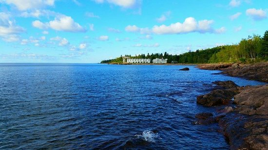 Bluefin Bay on Lake Superior: A path from our room led to this walk on the shore.