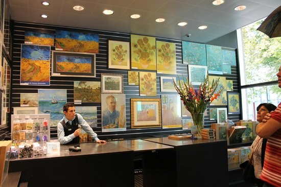 at the gift shop picture of van gogh museum amsterdam
