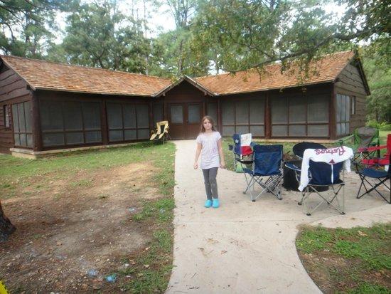 Bastrop State Park: back of cabin 12