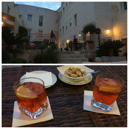 Corte di Nettuno : Aperol Spritz dans le patio