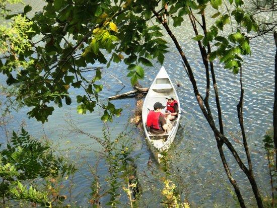Bastrop State Park: canoe