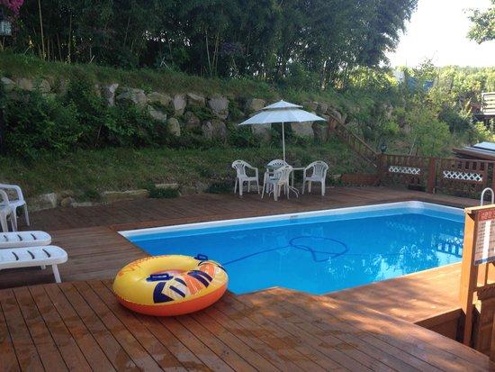 Bellus Rose Pension: espace piscine
