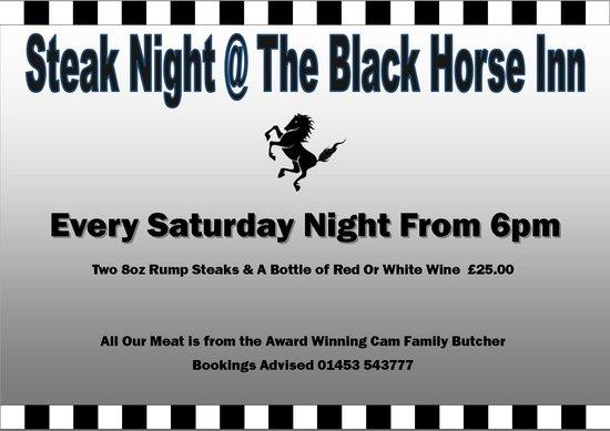 The Black Horse Inn: Steak Night