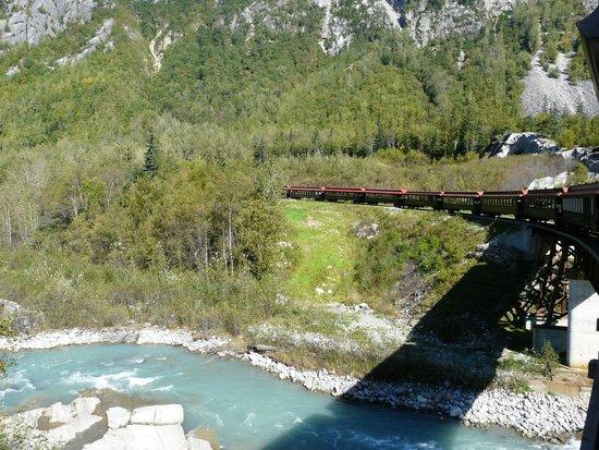 White Pass & Yukon Route Railway: on way up over one of many bridges