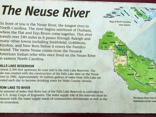 Neuse River Trail : Map at the trailhead