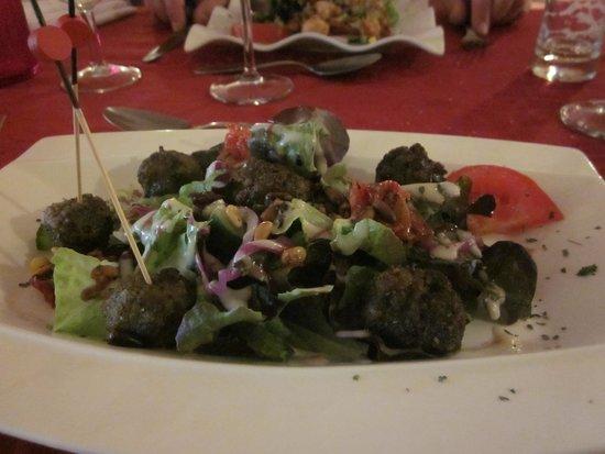 La Galiniere: meatball starter