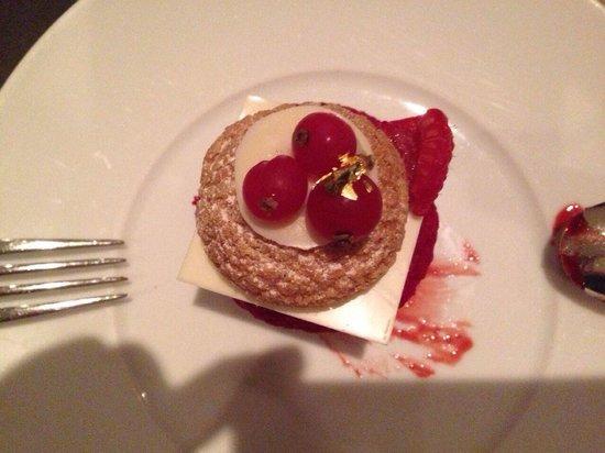 "Armani/Deli: Amazing the dessert "" mix berries""."